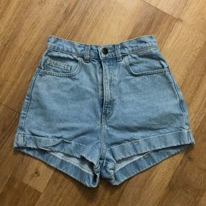 American Apparel High Waist Light Denim Short